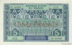 5 Francs MAROC  1923 P.09 SUP+