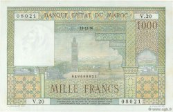 1000 Francs MAROC  1956 P.47 pr.NEUF