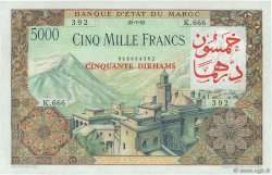 50 Dirhams sur 5000 Francs MAROC  1953 P.51 pr.NEUF