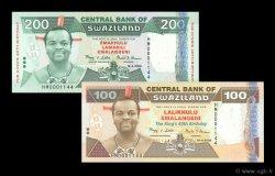 100 et 200 Emalangeni SWAZILAND  2008 P.34-35 NEUF