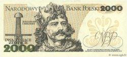 2000 Zlotych POLOGNE  1982 P.147c NEUF