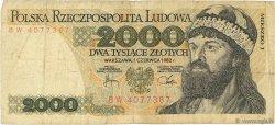 2000 Zlotych POLOGNE  1982 P.147c B