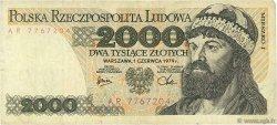 2000 Zlotych POLOGNE  1979 P.147b TB