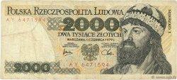 2000 Zlotych POLOGNE  1979 P.147b B