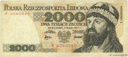 2000 Zlotych POLOGNE  1977 P.147a TB