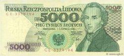 5000 Zlotych POLOGNE  1982 P.150a SUP
