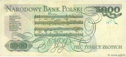 5000 Zlotych POLOGNE  1982 P.150a TTB
