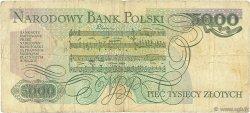 5000 Zlotych POLOGNE  1986 P.150b B+