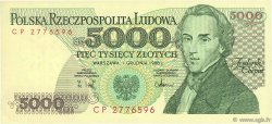 5000 Zlotych POLOGNE  1988 P.150c NEUF