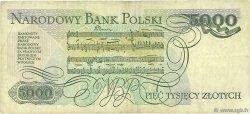 5000 Zlotych POLOGNE  1988 P.150c TB à TTB