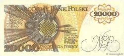 20000 Zlotych POLOGNE  1989 P.152a NEUF