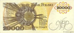 20000 Zlotych POLOGNE  1989 P.152a SUP