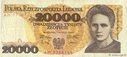20000 Zlotych POLOGNE  1989 P.152a TB