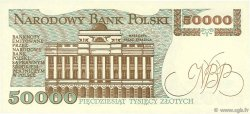 50000 Zlotych POLOGNE  1989 P.153a NEUF