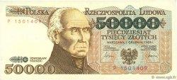 50000 Zlotych POLOGNE  1989 P.153a SPL