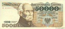 50000 Zlotych POLOGNE  1989 P.153a SUP
