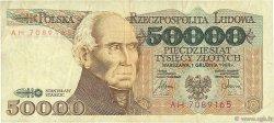 50000 Zlotych POLOGNE  1989 P.153a TTB