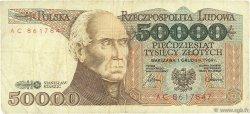 50000 Zlotych POLOGNE  1989 P.153a TB