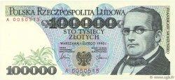 100000 Zlotych POLOGNE  1990 P.154a NEUF