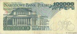 100000 Zlotych POLOGNE  1990 P.154a TB