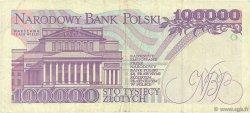 100000 Zlotych POLOGNE  1993 P.160a TB+