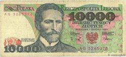 10000 Zlotych POLOGNE  1988 P.151b B