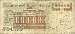 50000 Zlotych POLOGNE  1989 P.153a B
