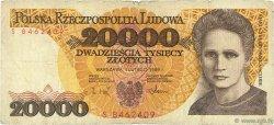 20000 Zlotych POLOGNE  1989 P.152a B