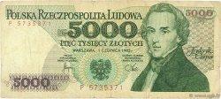 5000 Zlotych POLOGNE  1982 P.150a B