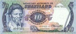 10 Emalangeni SWAZILAND  1974 P.04a SPL+