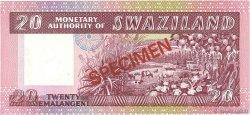 20 Emalangeni SWAZILAND  1974 P.05s NEUF