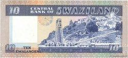10 Emalangeni SWAZILAND  1985 P.10c SPL