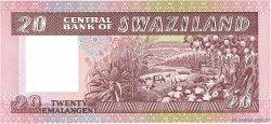 20 Emalangeni SWAZILAND  1984 P.11a NEUF