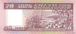 20 Emalangeni SWAZILAND  1985 P.11b SPL