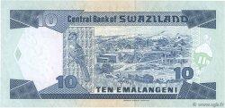 10 Emelangeni SWAZILAND  1998 P.24c NEUF