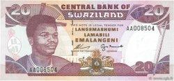 20 Emelangeni SWAZILAND  1995 P.25a NEUF