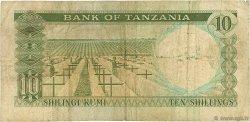 10 Shillings TANZANIE  1966 P.02a B+