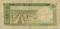 10 Shillings TANZANIE  1966 P.02b B+