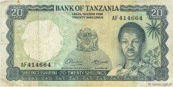 20 Shillings TANZANIE  1966 P.03a B+