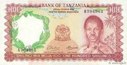 100 Shillings TANZANIE  1966 P.04a SUP