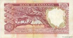 100 Shillings TANZANIE  1966 P.05a TTB