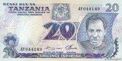 20 Shilingi TANZANIE  1978 P.07a TTB