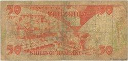 50 Shilingi TANZANIE  1985 P.10 B