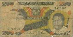 200 Shilingi TANZANIE  1986 P.18a B