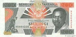 200 Shilingi TANZANIE  1993 P.25b SUP