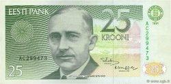 25 Krooni ESTONIE  1991 P.73a TTB+