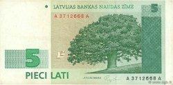 5 Lati LETTONIE  1992 P.43 TB