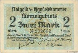 2 Mark MEMEL  1922 P.03a SUP