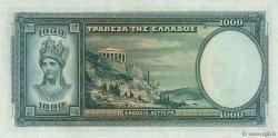 1000 Drachmes GRÈCE  1939 P.110 SUP