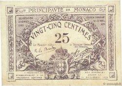 25 Centimes MONACO  1921 P.02b TTB